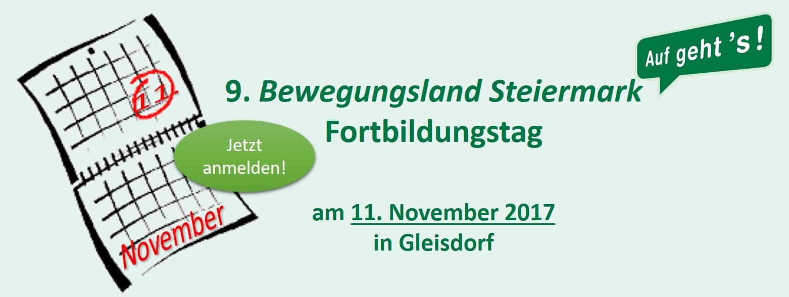 9. Bewegungsland Steiermark Fortbildungstag